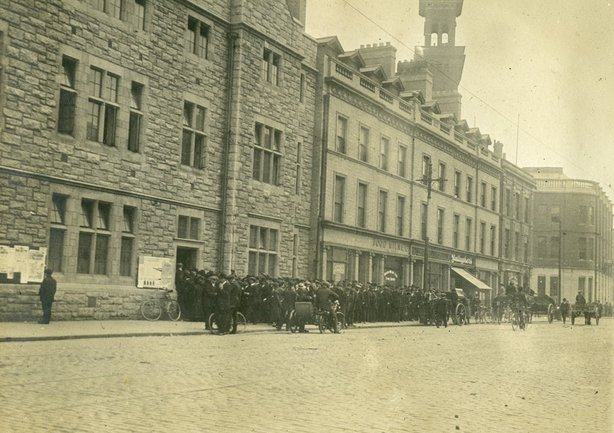 The police station on Great Brunswick Street where Detective Hoey was shot Photo: National Museum of Ireland