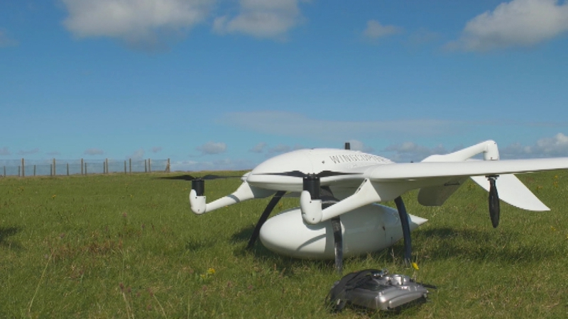 'World first' as drone delivers insulin to Aran Islands