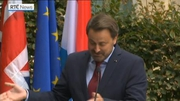 RTÉ News: Boris Johnson pulls out of press conference with Xavier Bettel