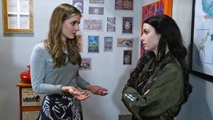 Tessa is shocked as Katy calls around unexpectedly in Thursday night's Fair City