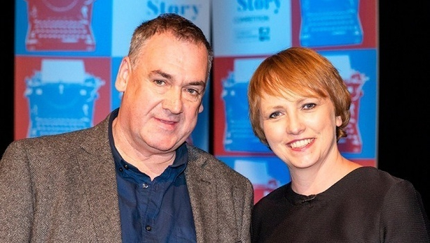 Stephen O'Reilly with competition judge Sinéad Crowley