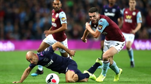 Pablo Zabaleta of West Ham United and John McGinn