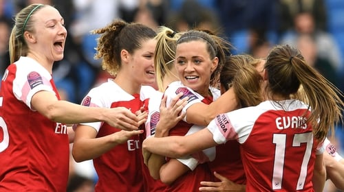 Louise Quinn and Katie McCabe helped Arsenal to a dramatic win