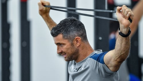 Rob Kearney will test out his calf during training on Wednesday