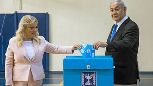 Benjamin Netanyahu and his wife cast their votes in Jerusalem