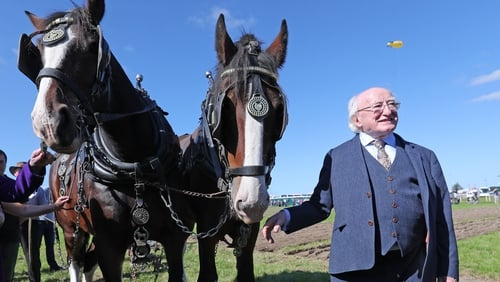 President Michael D Higgins at the National Ploughing Championships