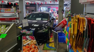 The car crashed through the front of the shop in Skerries (Courtesy Dave Morris)