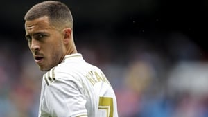 Eden Hazard made his debut off the bench in Saturday's 3-2 win over Levante