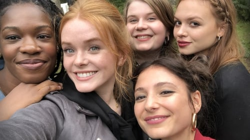 Fate: The Winx Saga cast members: Precious Mustapha, Abigail Cowen, Eliot Salt, Elisha Applebaum and Sadie Soverall