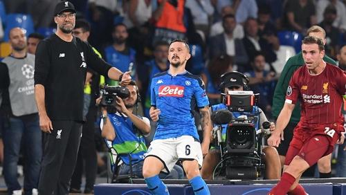 Jurgen Klopp looks on as Liverpool endures another nightmare in Naples