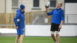 Devin Toner (R) and Leo Cullen