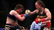 Delfine Persoon (R) gave Katie Taylor her toughest test yet as a professional