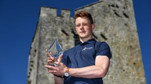 Jerome Cahill with his award