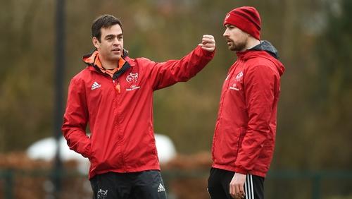 Johann van Graan, left, isn't surprised by Felix Jones' impact with South Africa