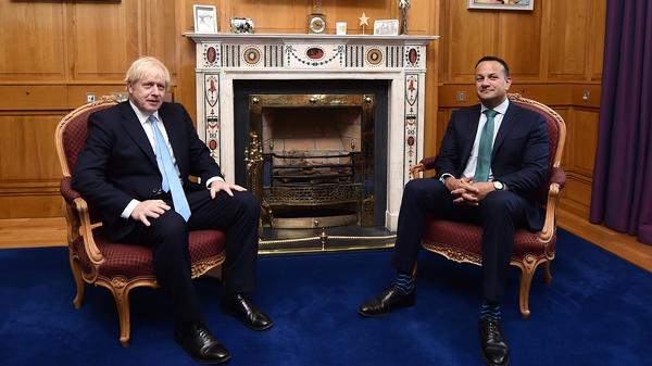Leo Varadkar said he had congratulated Boris Johnson on his election victory (File pic)