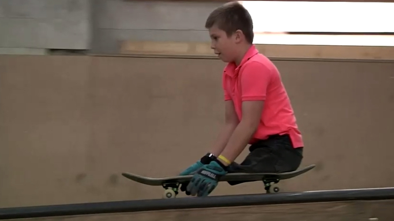 The ten-year-old skateboarder with no legs