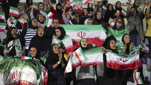 A small group of female fans were allowed to attend a friendly between Iran and Bolivia last year