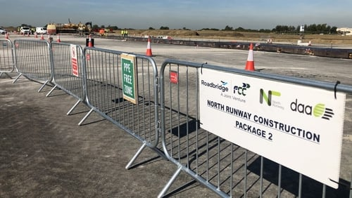 Construction of a new €320m runway at the airport is underway