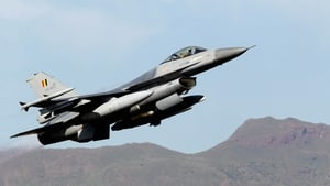 A file image of a Belgian F16 jet