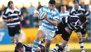 Vasily Artemyev leaves the Terenure boys trailing in his wake during a Leinster Schools Senior Cup match in 2006