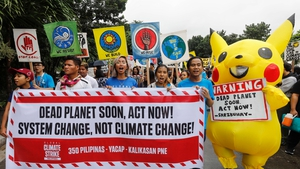 Advocates for environmental protection rally in solidarity with the Global Climate Strike at the University of the Philippines in Quezon City