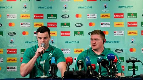 James Ryan and Tadhg Furlong at Friday's press conference