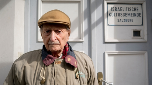 Marko Feingold pictured at the Israeli Cultural Centre in Salzburg last year