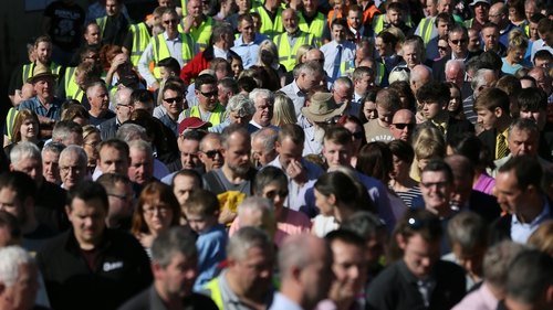 Large crowds attended a rally in support of Kevin Lunney after he had been brutally attacked earlier this week