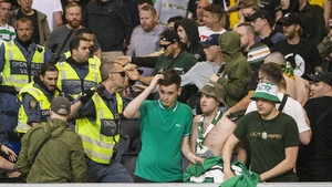 Celtic fans in Sweden for their side's Europa League clash with AIK