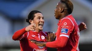 Romeo Parkes (R) struck again for Sligo Rovers