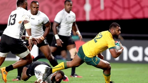 Samu Kerevi goes over for Australia's fifth try