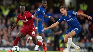Chelsea's Cesar Azpilucueta and Liverpool's Sadio Mane in action during last season's league meeting at Stamford Bridge which finished 1-1