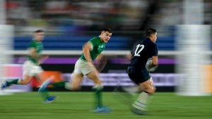 Ringrose chases Sam Johnson of Scotland