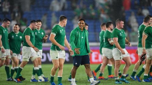 Ireland players savour their win against Scotland