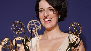 Phoebe Waller-Bridge with her three Emmys