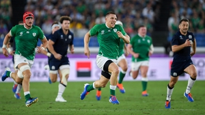 Andrew Conway was one of the Ireland try scorers against Scotland in Yokohama