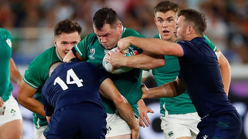"""Japan prop Yusuke Kizu claimed Cian Healy """"steps out"""" and illegally angles in at scrummages"""