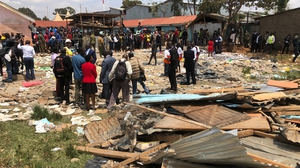 The first floor of the building collapsed as the children were entering their classroom