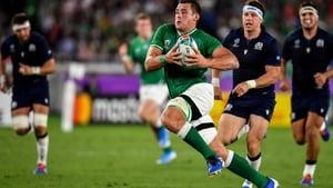 CJ Stander makes a run during Ireland's 27-3 win over Scotland