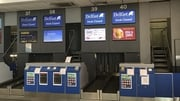 Thomas Cook check-in desks were empty in Belfast this morning