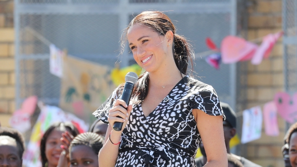 The Duchess was glowing as she spoke to the crowds. Photo: Getty