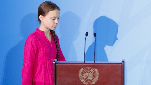 Greta Thunberg opened the United Nations Climate Action Summit today