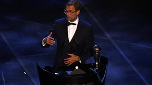Jurgen Klopp paid tribute to Liverpool's players in his speech