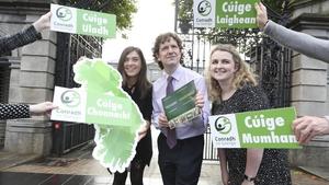 Conradh na Gaeilge ag Teach Laighean inniu