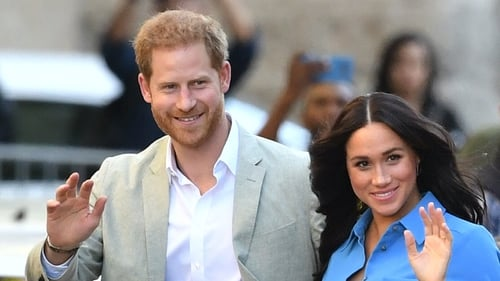The couple have landed in South Africa with their four-month-old son