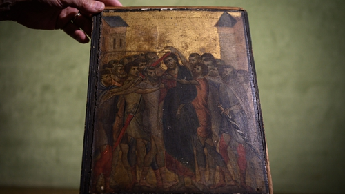"""""""Christ Mocked"""" by 13th-century artist Cimabue could fetch up to €6m at auction next month"""
