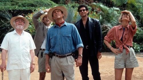 Richard Attenborough, Martin Ferrero, Sam Neill, Jeff Goldblum and Laura Dern in 1993's Jurassic Park