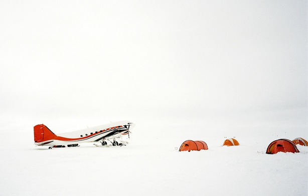 Plane and camp