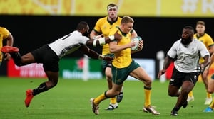 Hodge in action against Fiji