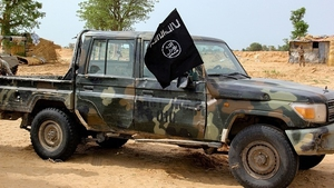 A vehicle allegedly belonging to Islamic State in Nigeria in August 2019